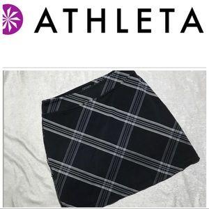 Athleta plaid black skirt